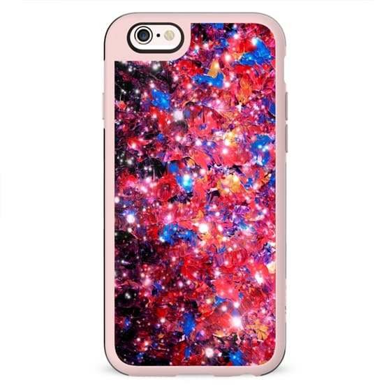 WRAPPED IN STARLIGHT Bold Girly Colorful Pink Purple Blue Sparkle Ombre Galaxy Cosmic Abstract Painting Galactic Cosmos Fine Art Whimsical Stars