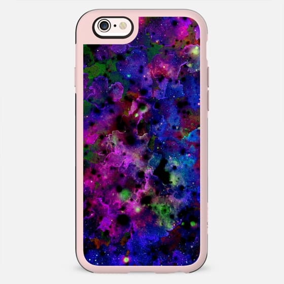 COLOR ME FLORAL 6 Bold Galaxy Abstract Fine Art Watercolor Painting Intense Galactic Space Nebula Deep Royal Blue Indigo Navy Purple Black Swirls Modern Chic Design - New Standard Case