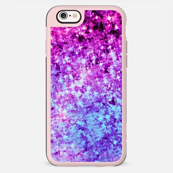 RADIANT ORCHID GALAXY - Cosmic Ombre Abstract Colorful Sparkle Purple Lilac Lavender Plum Violet Stars Galactic Chic Cosmos Whimsical Painting -