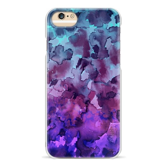 iPhone 6 Cases - COLOR ME FLORAL 5 Bold Colorful Fine Art Watercolor Painting Ombre Modern Chic Design Abstract Flowers Blue Turquoise Lavender Purple Elegant Girly Pattern