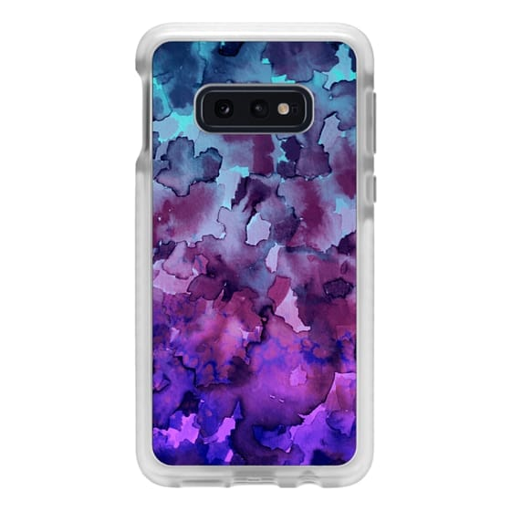 Samsung Galaxy S10e Cases - COLOR ME FLORAL 5 Bold Colorful Fine Art Watercolor Painting Ombre Modern Chic Design Abstract Flowers Blue Turquoise Lavender Purple Elegant Girly Pattern
