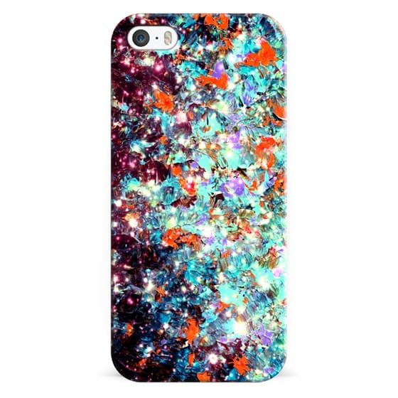 iPhone 6s Cases - WRAPPED IN STARLIGHT - DEEP MIDWINTER Bold Colorful Ombre Whimsical Abstract Textural Painting Fine Art Turquoise Red Blue Purple Black Galaxy