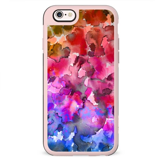 COLOR ME FLORAL 4 Rainbow Ombre Bold Abstract Watercolor Painting Jewel Tone Pink Red Blue Purple Pretty Summer Garden Flowers Fine Art Girly Romantic Nature Design