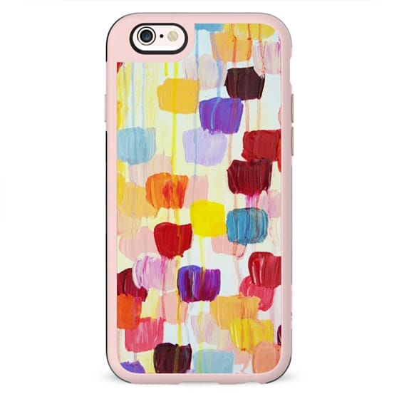DOTTY - Rainbow Bold Colorful Polka Dots Spots Multicolor Happy Cheerful Summer Fun Feminine Chic Art Pattern Whimsical Abstract Acrylic Painting