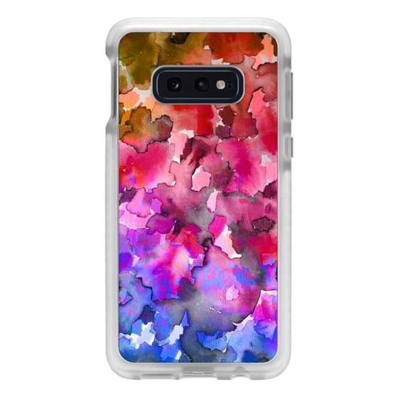 Samsung Galaxy S10e Cases - COLOR ME FLORAL 4 Rainbow Ombre Bold Abstract Watercolor Painting Jewel Tone Pink Red Blue Purple Pretty Summer Garden Flowers Fine Art Girly Romantic Nature Design