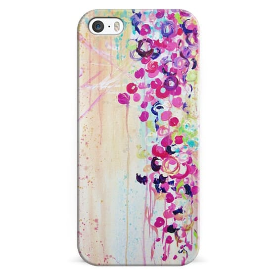 iPhone 6s Cases - DANCE OF THE SAKURA - Lovely Floral Abstract Japanese Cherry Blossoms Flowers Girlie Sweet Spring Nature Romantic Feminine Peach Blue Painting