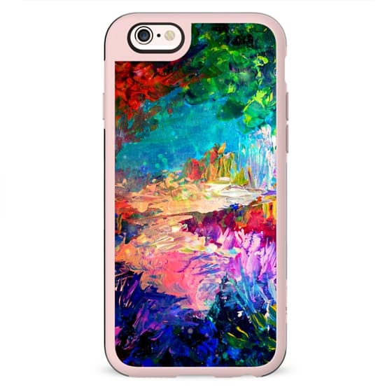 WELCOME TO UTOPIA - Colorful Magical Forest Abstract Trees Floral Nature Galaxy Flowers Rainbow Bold Whimsical Fairy Land Painting