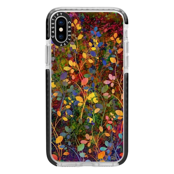 iPhone X Cases - AMONGST THE FLOWERS Rainbow Array - Colorful Abstract Summer Floral Pattern Green Red Blue Yellow Garden Flowers Lovely Girly Nature Fine Art Painting Design