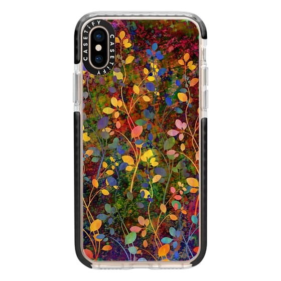 iPhone XS Cases - AMONGST THE FLOWERS Rainbow Array - Colorful Abstract Summer Floral Pattern Green Red Blue Yellow Garden Flowers Lovely Girly Nature Fine Art Painting Design