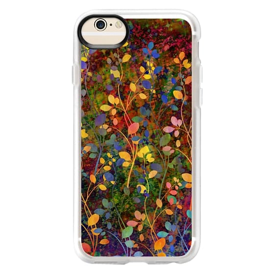 iPhone 6 Cases - AMONGST THE FLOWERS Rainbow Array - Colorful Abstract Summer Floral Pattern Green Red Blue Yellow Garden Flowers Lovely Girly Nature Fine Art Painting Design