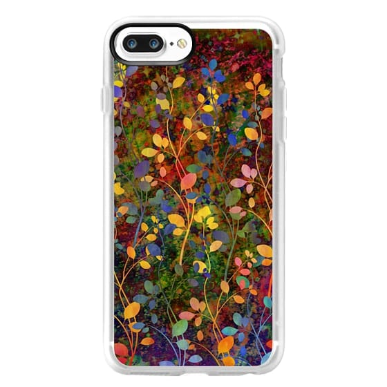 iPhone 7 Plus Cases - AMONGST THE FLOWERS Rainbow Array - Colorful Abstract Summer Floral Pattern Green Red Blue Yellow Garden Flowers Lovely Girly Nature Fine Art Painting Design