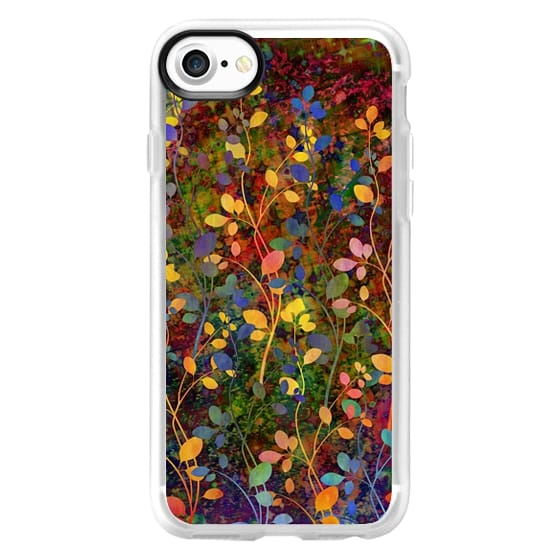 iPhone 7 Cases - AMONGST THE FLOWERS Rainbow Array - Colorful Abstract Summer Floral Pattern Green Red Blue Yellow Garden Flowers Lovely Girly Nature Fine Art Painting Design