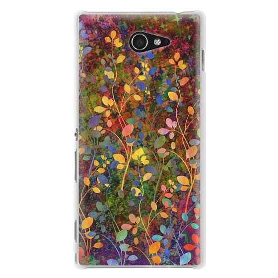 Sony M2 Cases - AMONGST THE FLOWERS Rainbow Array - Colorful Abstract Summer Floral Pattern Green Red Blue Yellow Garden Flowers Lovely Girly Nature Fine Art Painting Design