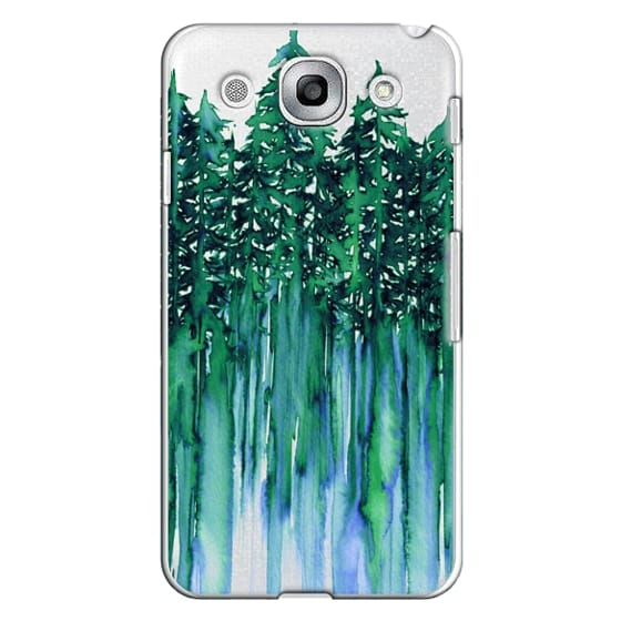 Optimus G Pro Cases - THROUGH THE TREES, BOLD GREEN AQUA Colorful Forest Nature Wanderlust Boho Outdoors Mountains Watercolor Painting Clear Transparent Ebi Emporium