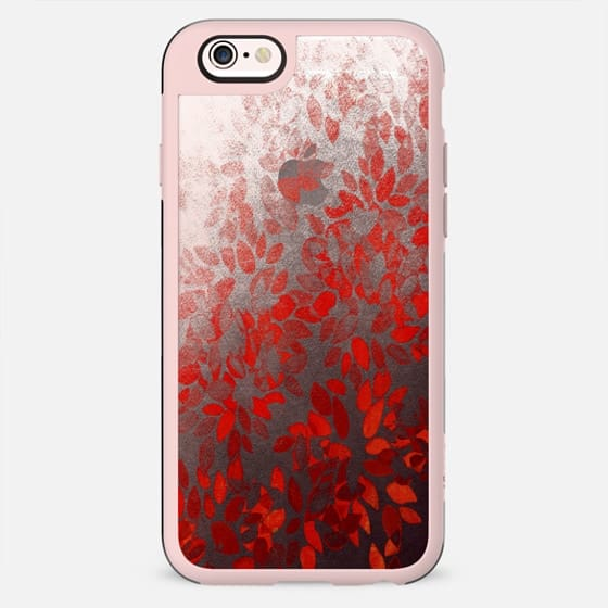 FLORAL WASH - RED Bold Colorful Flowers Vibrant Crimson Cherry Black Petals Rich Ombre Gradient Fine Art Abstract Watercolor Painting Transparent Elegant Winter Modern Chic Garden Design - New Standard Case