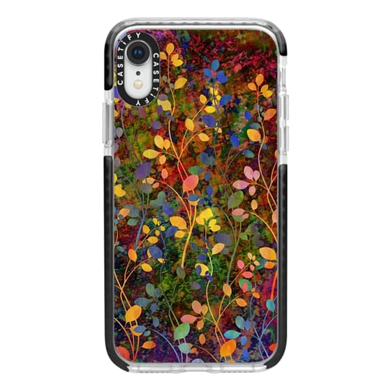 iPhone XR Cases - AMONGST THE FLOWERS Rainbow Array - Colorful Abstract Summer Floral Pattern Green Red Blue Yellow Garden Flowers Lovely Girly Nature Fine Art Painting Design