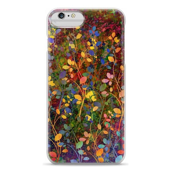 iPhone 6 Plus Cases - AMONGST THE FLOWERS Rainbow Array - Colorful Abstract Summer Floral Pattern Green Red Blue Yellow Garden Flowers Lovely Girly Nature Fine Art Painting Design