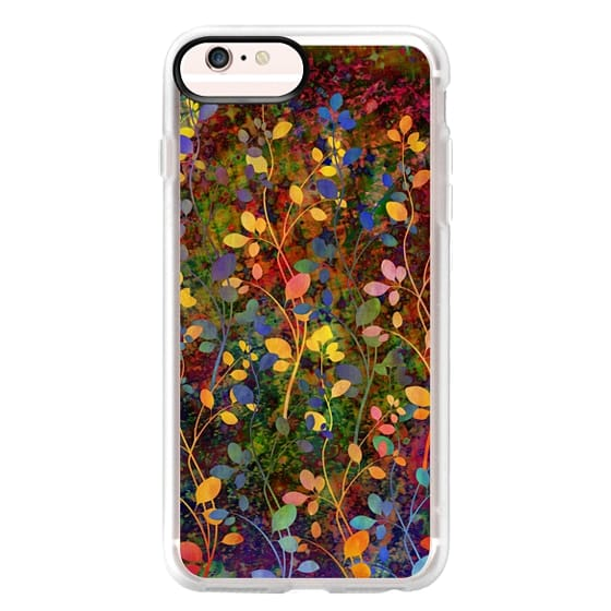 iPhone 6s Plus Cases - AMONGST THE FLOWERS Rainbow Array - Colorful Abstract Summer Floral Pattern Green Red Blue Yellow Garden Flowers Lovely Girly Nature Fine Art Painting Design