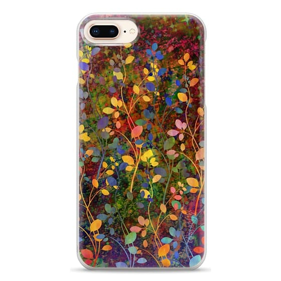 iPhone 8 Plus Cases - AMONGST THE FLOWERS Rainbow Array - Colorful Abstract Summer Floral Pattern Green Red Blue Yellow Garden Flowers Lovely Girly Nature Fine Art Painting Design