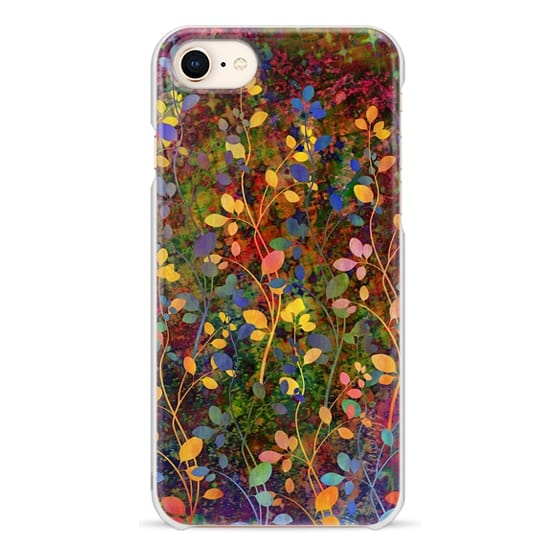iPhone 8 Cases - AMONGST THE FLOWERS Rainbow Array - Colorful Abstract Summer Floral Pattern Green Red Blue Yellow Garden Flowers Lovely Girly Nature Fine Art Painting Design