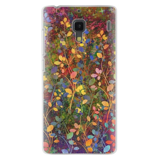 Redmi 1s Cases - AMONGST THE FLOWERS Rainbow Array - Colorful Abstract Summer Floral Pattern Green Red Blue Yellow Garden Flowers Lovely Girly Nature Fine Art Painting Design