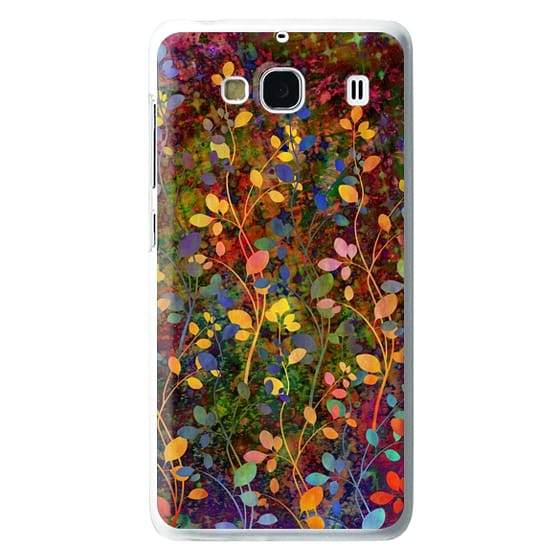Redmi 2 Cases - AMONGST THE FLOWERS Rainbow Array - Colorful Abstract Summer Floral Pattern Green Red Blue Yellow Garden Flowers Lovely Girly Nature Fine Art Painting Design