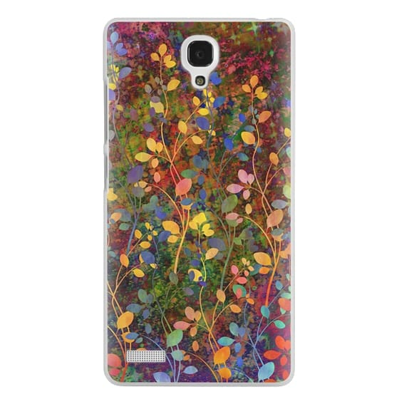Redmi Note Cases - AMONGST THE FLOWERS Rainbow Array - Colorful Abstract Summer Floral Pattern Green Red Blue Yellow Garden Flowers Lovely Girly Nature Fine Art Painting Design