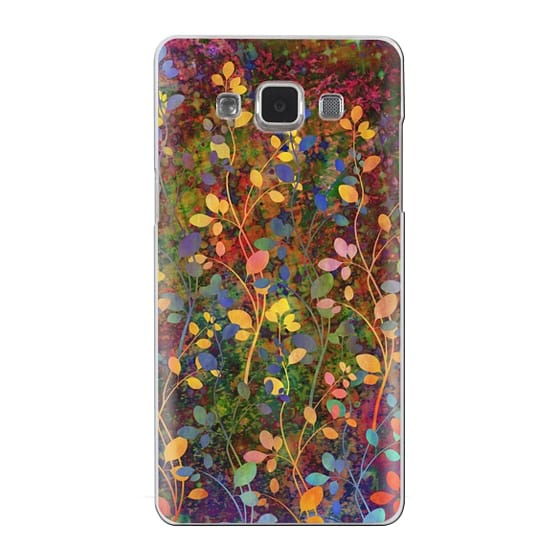 Samsung Galaxy A5 Cases - AMONGST THE FLOWERS Rainbow Array - Colorful Abstract Summer Floral Pattern Green Red Blue Yellow Garden Flowers Lovely Girly Nature Fine Art Painting Design