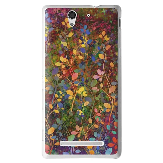 Sony C3 Cases - AMONGST THE FLOWERS Rainbow Array - Colorful Abstract Summer Floral Pattern Green Red Blue Yellow Garden Flowers Lovely Girly Nature Fine Art Painting Design