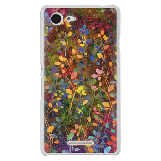 Sony E3 Cases - AMONGST THE FLOWERS Rainbow Array - Colorful Abstract Summer Floral Pattern Green Red Blue Yellow Garden Flowers Lovely Girly Nature Fine Art Painting Design