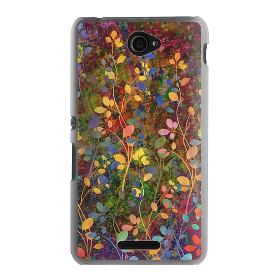 Sony E4 Cases - AMONGST THE FLOWERS Rainbow Array - Colorful Abstract Summer Floral Pattern Green Red Blue Yellow Garden Flowers Lovely Girly Nature Fine Art Painting Design