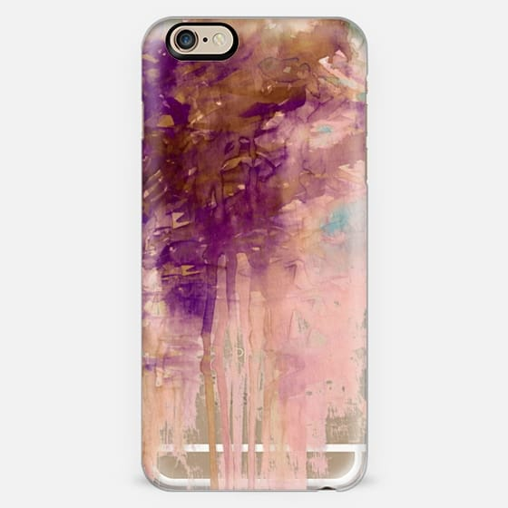 CARNIVAL DREAMS 4 Girly Pastel Blush Pink Eggplant Purple Rust Brown Abstract Watercolor Painting Transparent Rain Clouds Pretty Storm Sky Swirls Drip Whimsical Chic Feminine Lovely  -