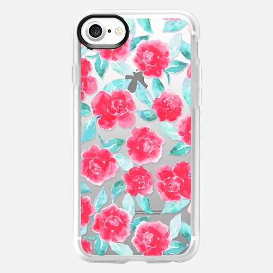 Cottage Peonies Pink Clear - Wallet Case