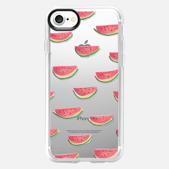 Watercolor Watermelon Clear - Wallet Case