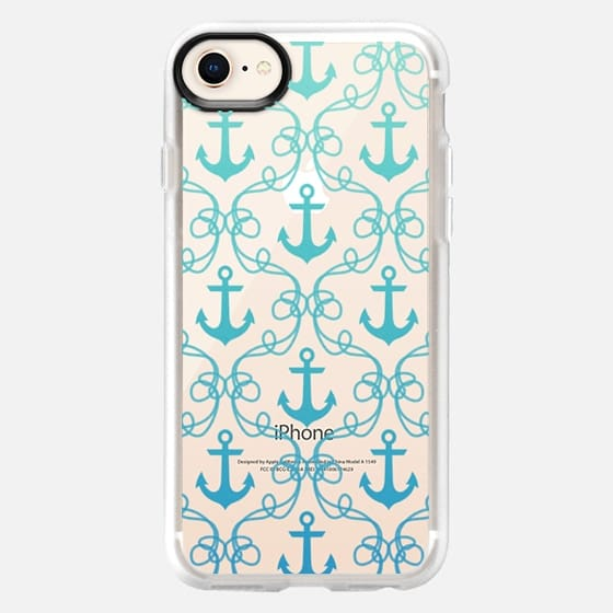 Nautical Knots Blue Ombre Clear - Snap Case