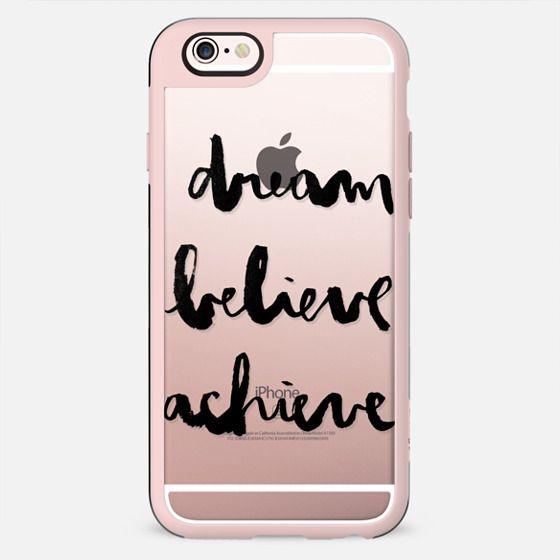 Dream Believe Achieve transparente