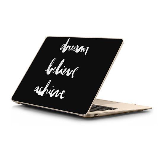 MacBook 12 Sleeves - Dream Believe Achieve black