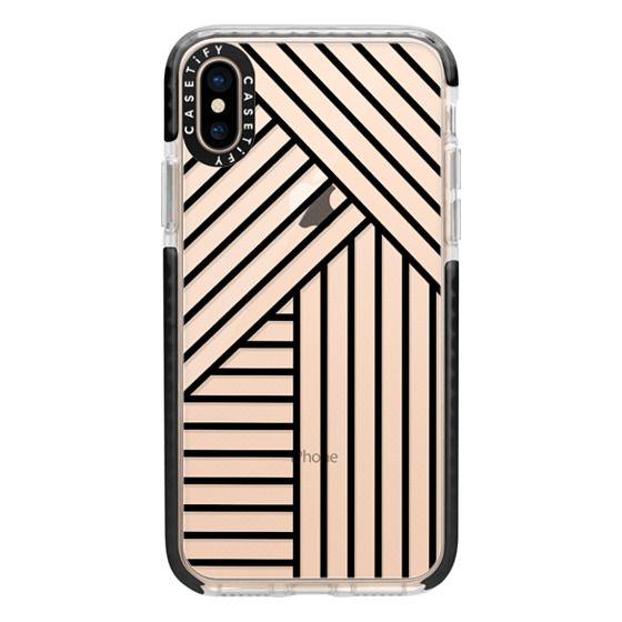 iPhone XS Cases - Stripes transparente