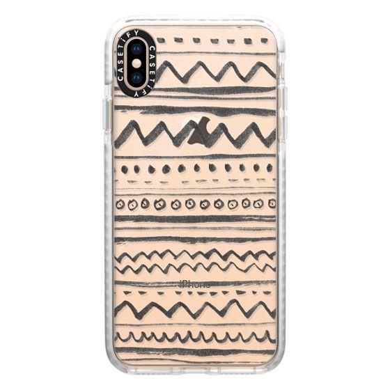 iPhone XS Max Cases - Tribal transparente