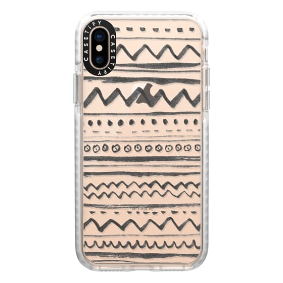 iPhone XS Cases - Tribal transparente