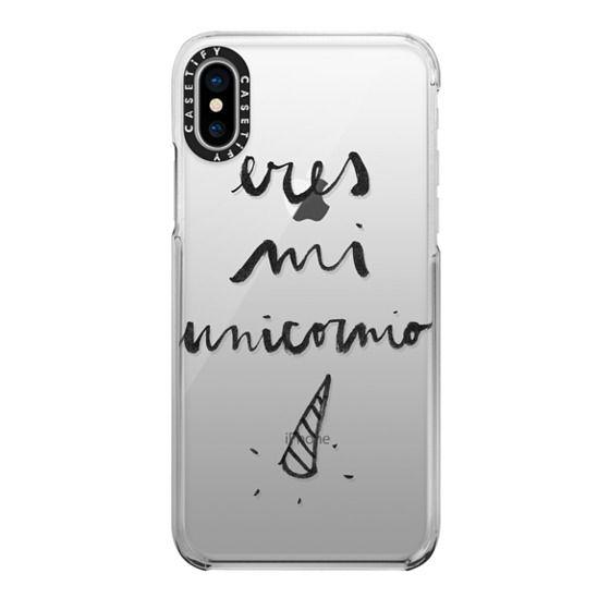 iPhone X Cases - Eres mi unicornio transparente