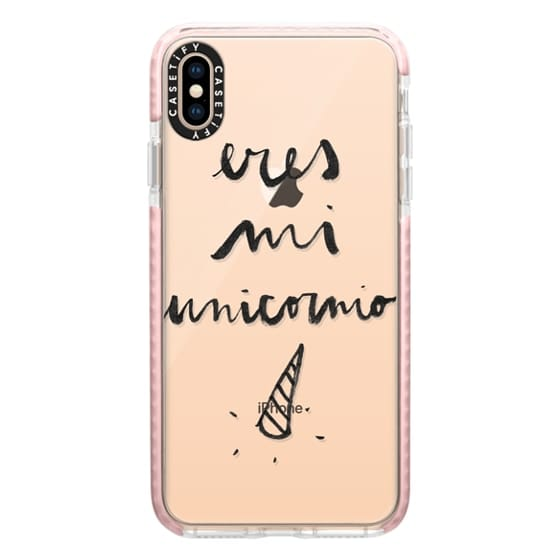 iPhone XS Max Cases - Eres mi unicornio transparente