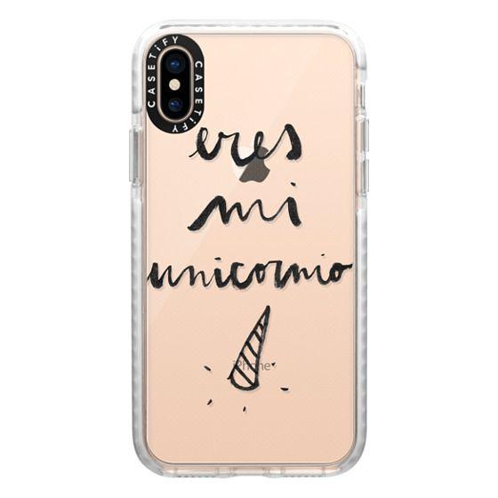 iPhone XS Cases - Eres mi unicornio transparente