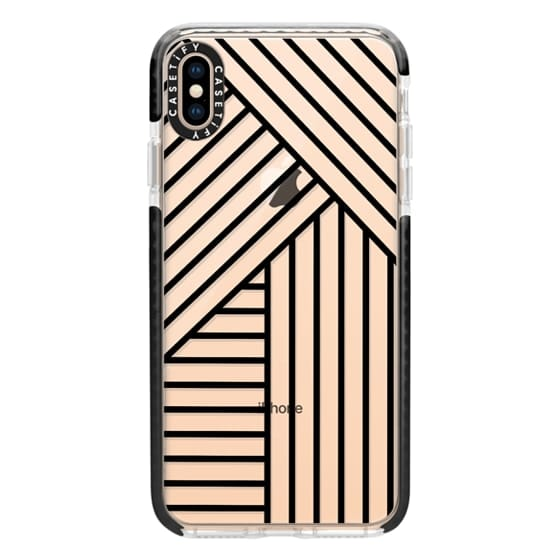 iPhone XS Max Cases - Stripes transparente