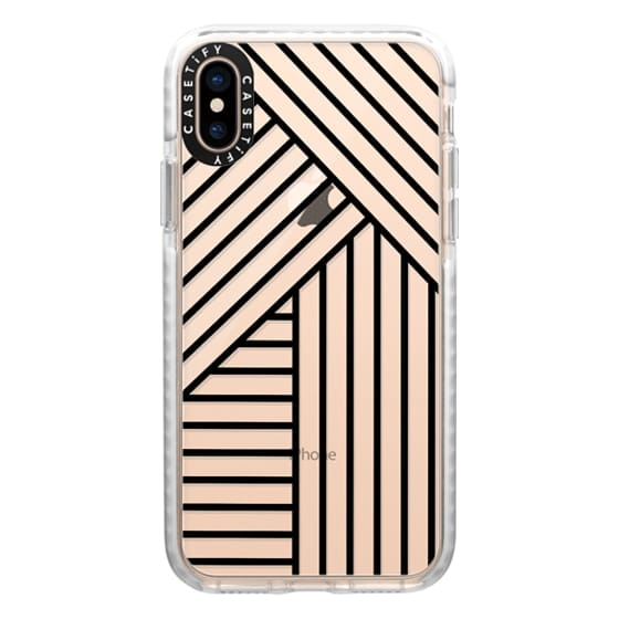 iPhone XS Cases - Stripes transparente