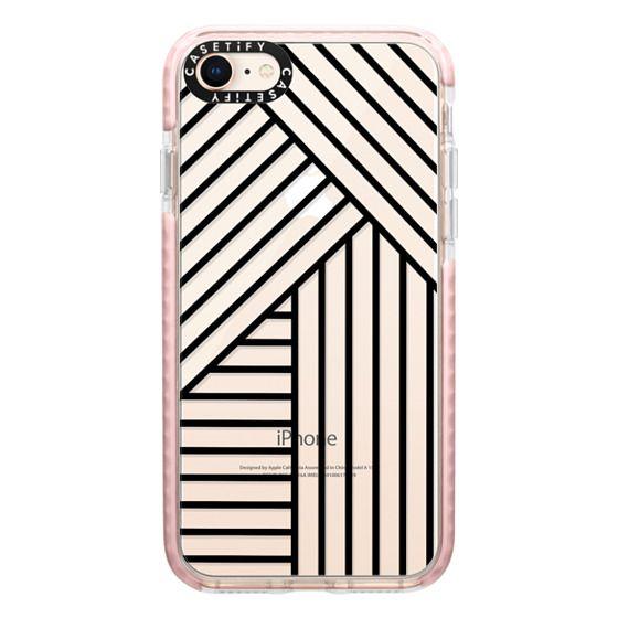 iPhone 8 Cases - Stripes transparente