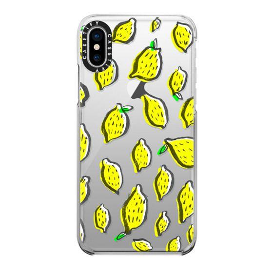 iPhone X Cases - Limones transparente