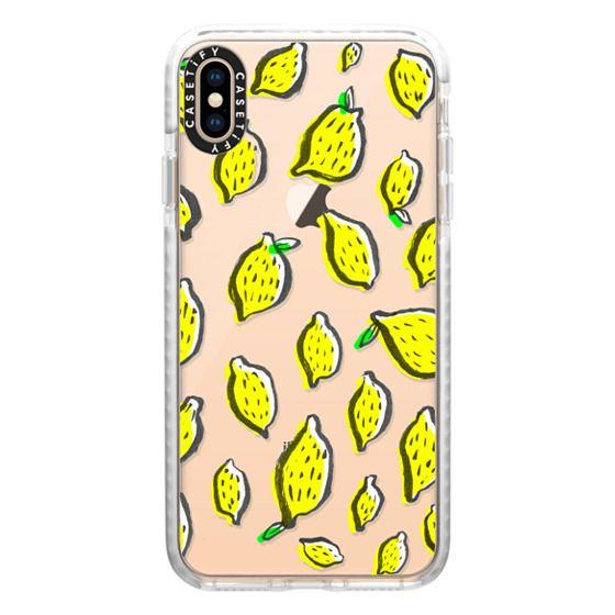 iPhone XS Max Cases - Limones transparente