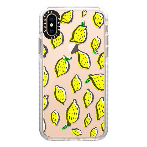 iPhone XS Cases - Limones transparente
