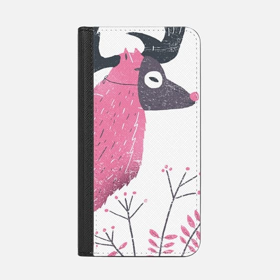 Pink elk with a mask